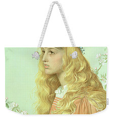 Portrait Of Miss Adele Donaldson, 1897 Weekender Tote Bag by Anthony Frederick Augustus Sandys