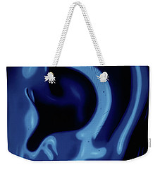 Portrait Of My Ear In Blue Weekender Tote Bag