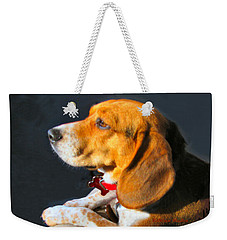 Portrait Of Pebbles - The Independent Beagle Weekender Tote Bag