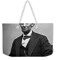 Portrait Of President Abraham Lincoln Weekender Tote Bag