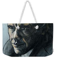 Charcoal Portrait Of President Obama Weekender Tote Bag