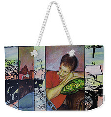 Portrait Of Randy Williams Weekender Tote Bag by Ron Richard Baviello
