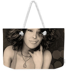 Portrait Of Rose Weekender Tote Bag by Jutta Maria Pusl