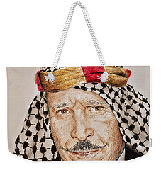 Portrait Of The Pro Wrestler Known As The Iron Sheik Weekender Tote Bag
