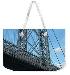 Portrait Of The Williamsburg Bridge Weekender Tote Bag