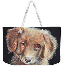 Portrait Of Toby Weekender Tote Bag