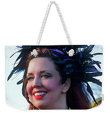 Portrait Of Traci Weekender Tote Bag by Kathy Baccari