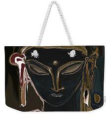 Weekender Tote Bag featuring the digital art Portrait Of Vajrasattva by Rabi Khan