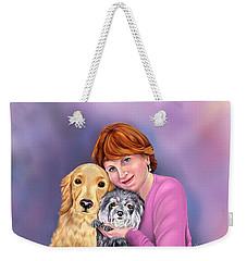 Portrait Of Virginia Weekender Tote Bag