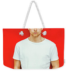 Portrait Of Young Handsome Man Weekender Tote Bag