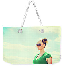 Portrait Of Young Woman Weekender Tote Bag