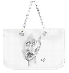 Portrait With Mechanical Pencil Weekender Tote Bag by Dan Twyman