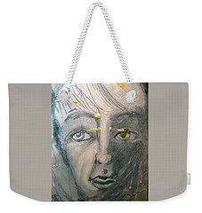 Portrait With Yellow Weekender Tote Bag