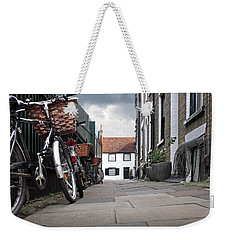 Weekender Tote Bag featuring the photograph Portugal Place Cambridge by Gill Billington