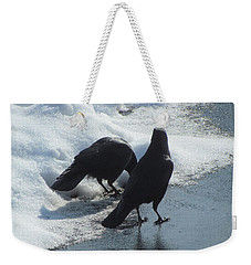 Posing Crows Weekender Tote Bag by Betty Pieper