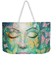 Weekender Tote Bag featuring the painting Possibilities Meditation by Sue Halstenberg