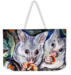 Possum Family Weekender Tote Bag