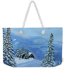 Post Blizzard Silence Weekender Tote Bag