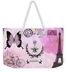 Post Card Paris Weekender Tote Bag