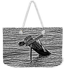 Weekender Tote Bag featuring the photograph Post In The Bayou by Maggy Marsh