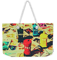 Weekender Tote Bag featuring the photograph Postage Pop Art by Jorgo Photography - Wall Art Gallery