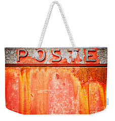 Poste Italian Weathered Mailbox Weekender Tote Bag