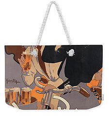 Poster Advertising Phenix Beer Weekender Tote Bag by Adolf Hohenstein