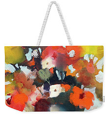 Weekender Tote Bag featuring the painting Pot Of Flowers by Michelle Abrams