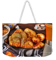 Weekender Tote Bag featuring the pyrography Potatoes by Yury Bashkin