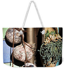Weekender Tote Bag featuring the photograph Pots And Plants by Catherine Lau