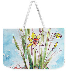 Potted Daffodils Weekender Tote Bag by Pat Katz