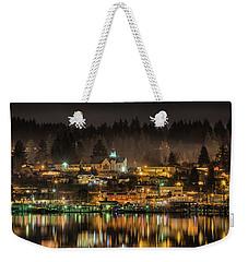 Poulsbo Waterfront 5 Weekender Tote Bag by Wally Hampton