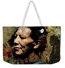 Pow Wow Dancer #1 Weekender Tote Bag by Ed Hall