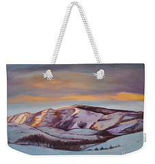 Powder Mountain Weekender Tote Bag by Marlene Book