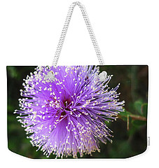 Purple Orb Weekender Tote Bag by Mary Ellen Frazee