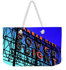 Power And Some Light Weekender Tote Bag