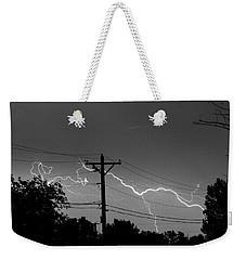 Power Lines Bw Fine Art Photo Print Weekender Tote Bag