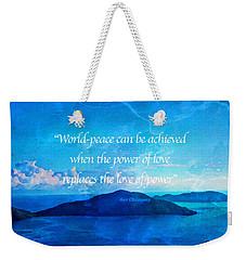 Weekender Tote Bag featuring the painting Power Of Love by Joan Reese