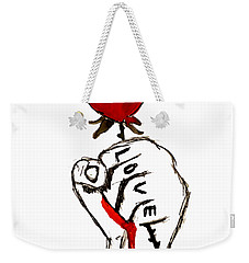 Power Of Love Weekender Tote Bag by Lucy Frost