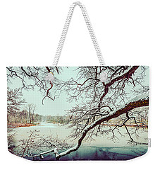 Power Of The Winter Weekender Tote Bag