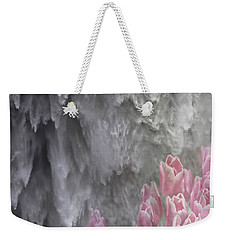 Weekender Tote Bag featuring the photograph Powerful And Gentle Waterfall Art  by Valerie Garner