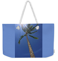 Weekender Tote Bag featuring the photograph Powerful Palm by Karen Nicholson