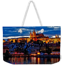 Prague Castle In The Evening Weekender Tote Bag