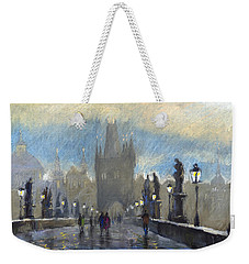 Prague Charles Bridge 06 Weekender Tote Bag