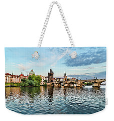Prague From The River Weekender Tote Bag