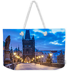 Prague In Blue Weekender Tote Bag