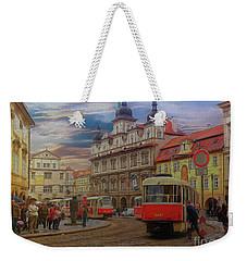Prague, Old Town, Street Scene Weekender Tote Bag