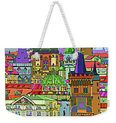 Prague Panorama Old Town Weekender Tote Bag