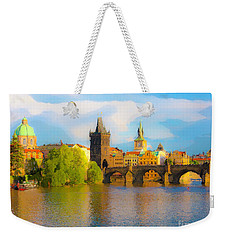 Weekender Tote Bag featuring the photograph Praha - Prague - Illusions by Tom Cameron