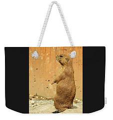 Prairie Dog Profile Weekender Tote Bag by Robin Regan